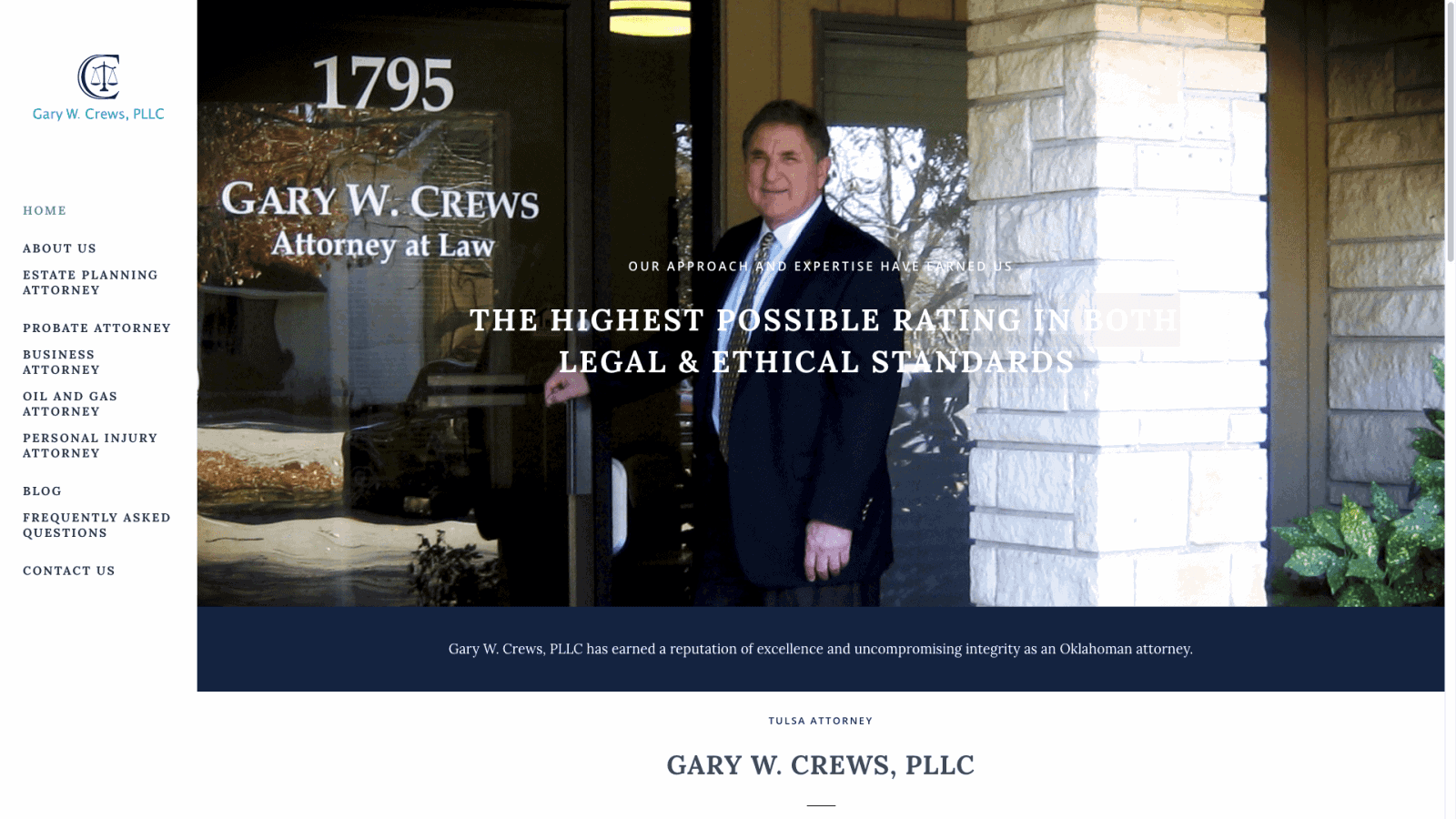 Tulsa Lawyer Website