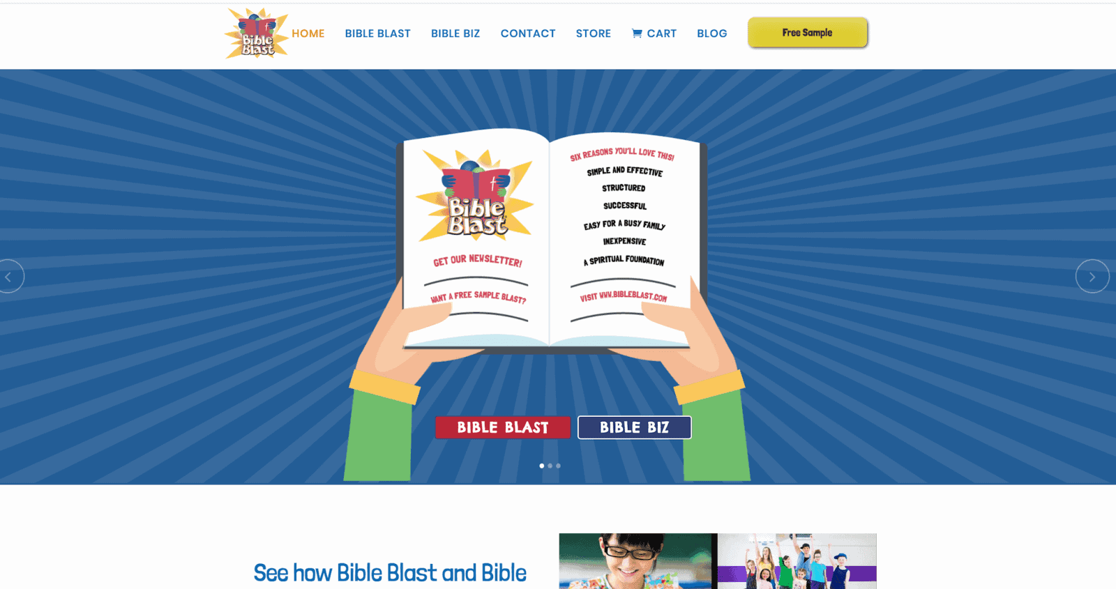 kid website and ecommerce website