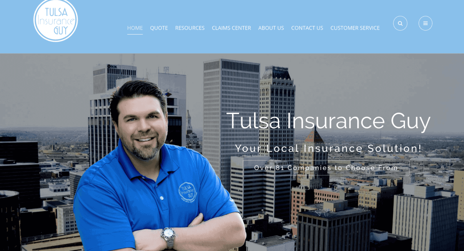 web design tulsa insurance