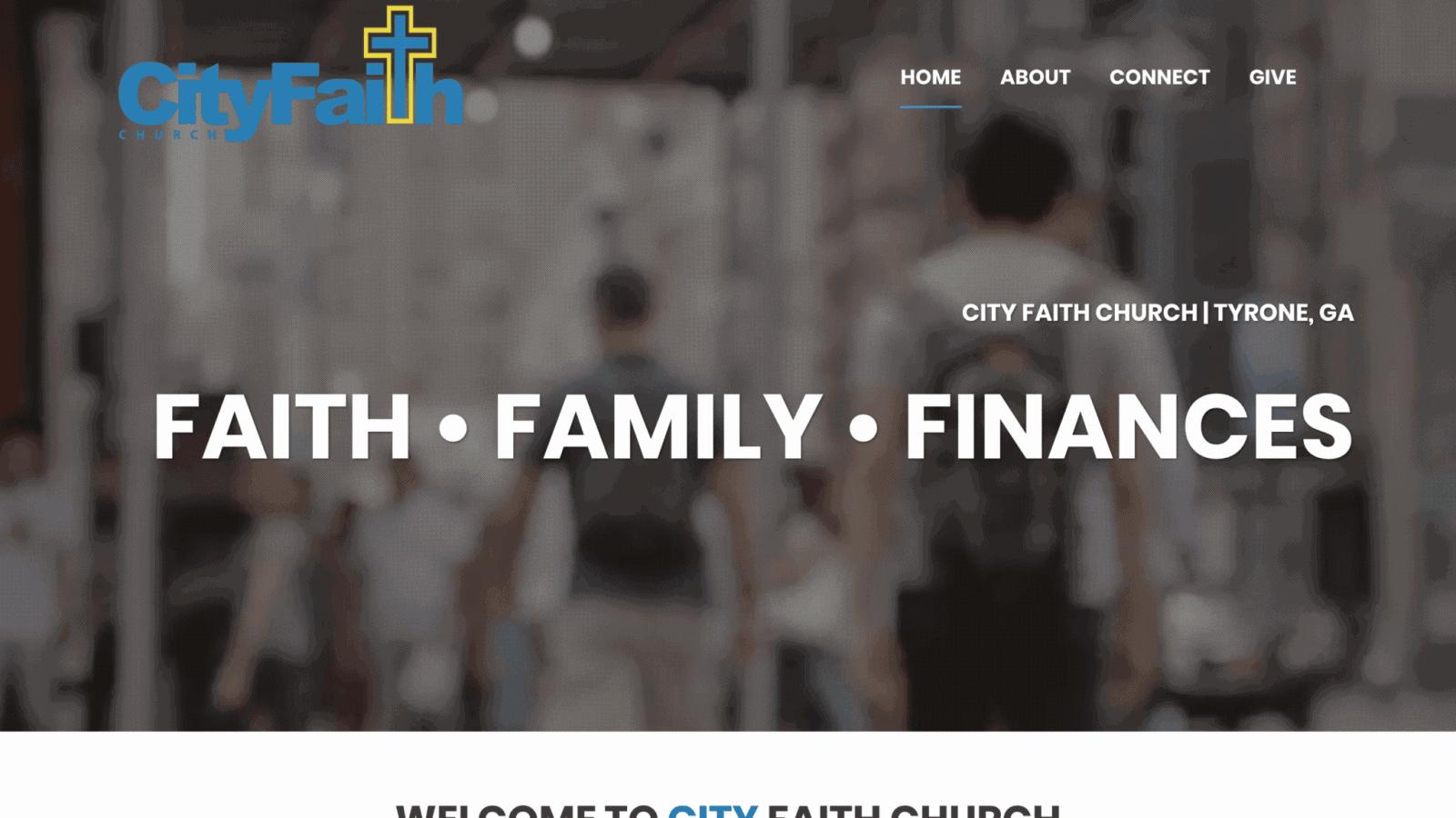 City Faith Church Website Design - McWilliams Media | Web