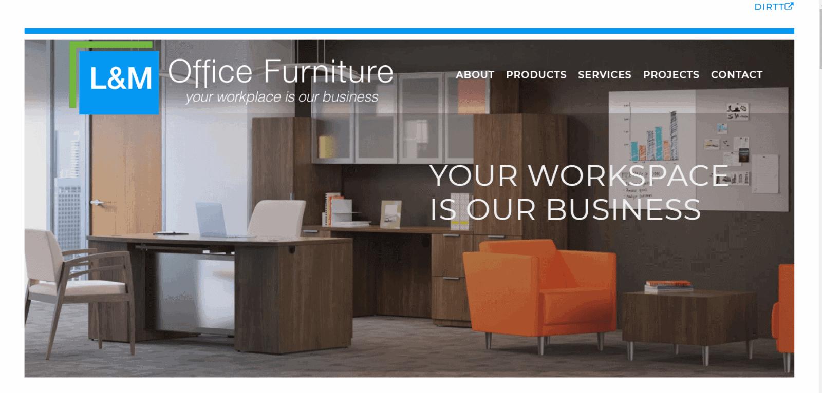 L M Office Furniture Website Design Tulsa Website Design Mcwilliams Media