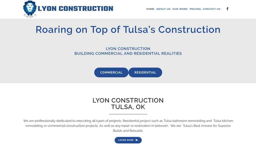 tulsa construction website designer