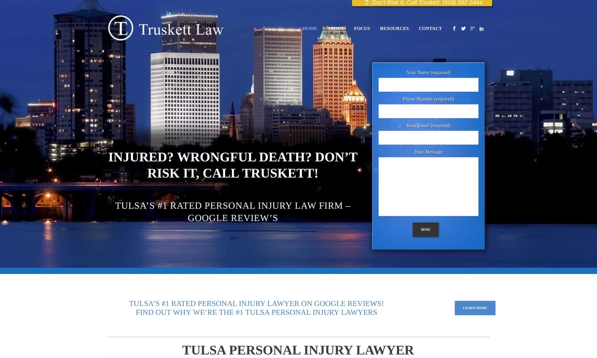tulsa lawyer website design
