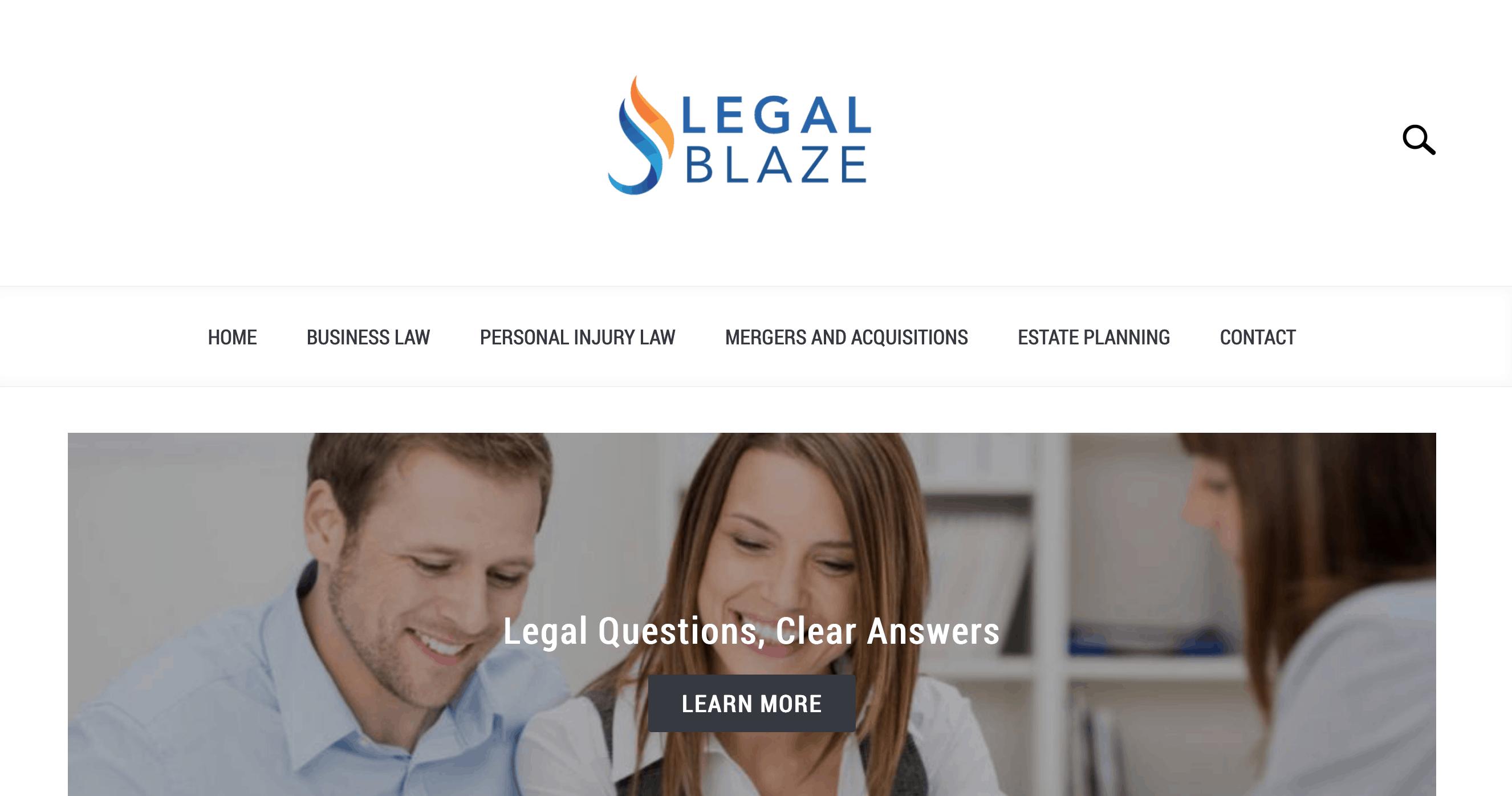 legal-blaze-home-page
